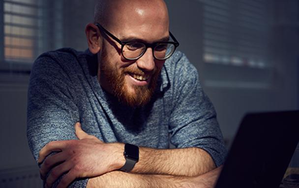 Design Director, Dan smiling